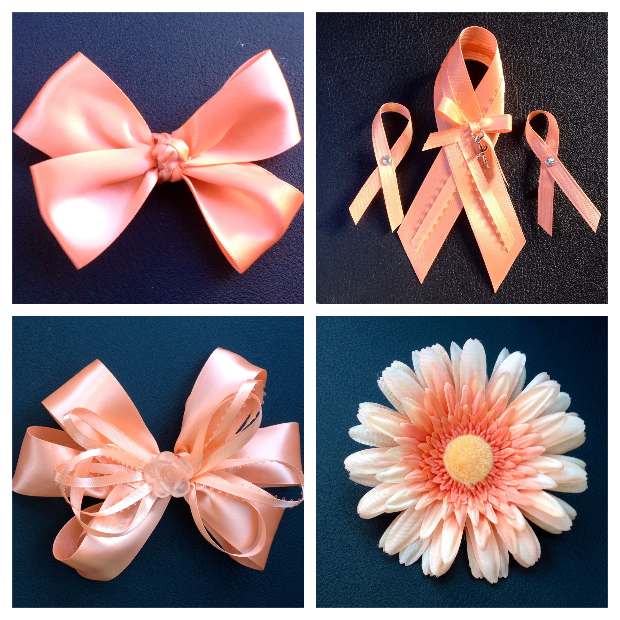 I made these hair bows and ribbons in support of my hero my i made these hair bows and ribbons in support of my hero she was diagnosed with uterine cancer peach i the color of ribbon for uterine cancer buycottarizona