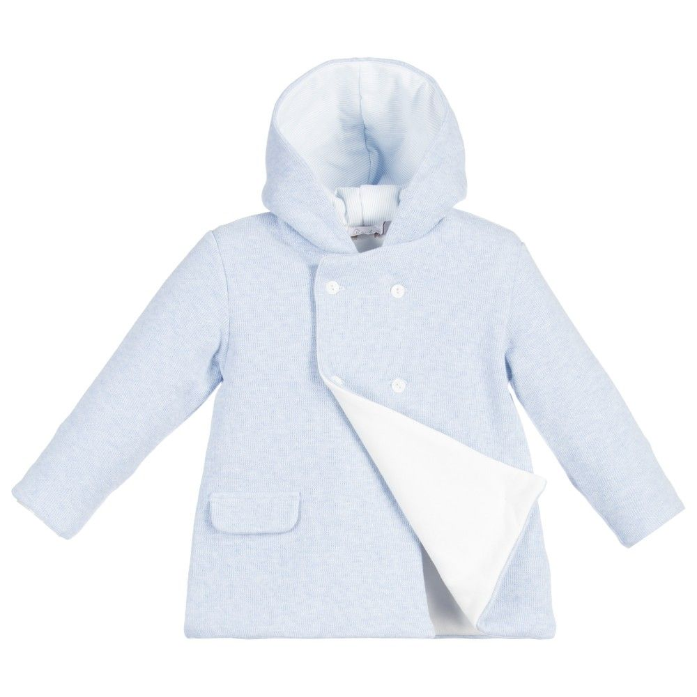 8abfb8098 Patachou - Baby Boys Blue Knitted Cotton Pram Coat