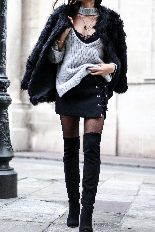 blog mode idee tenue cuissardes noires tenue avec cuissarde pinterest cuissardes noires. Black Bedroom Furniture Sets. Home Design Ideas