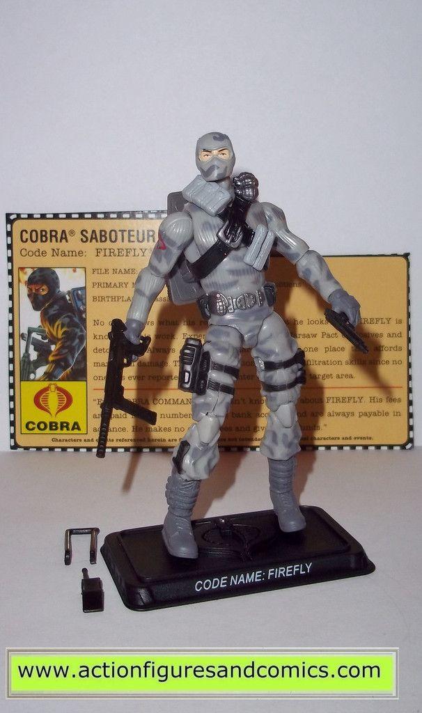 New Sealed GI Joe 25th Anniversary Foil Cobra Saboteur Firefly 2007