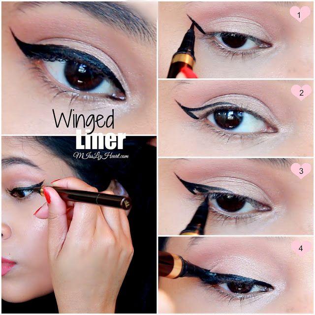Miss Liz Heart Winged Eyeliner Tutorial For Hooded Eyes Video