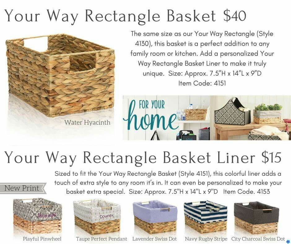 Your Way Rectangle Basket and Liners.  Great #gifts.