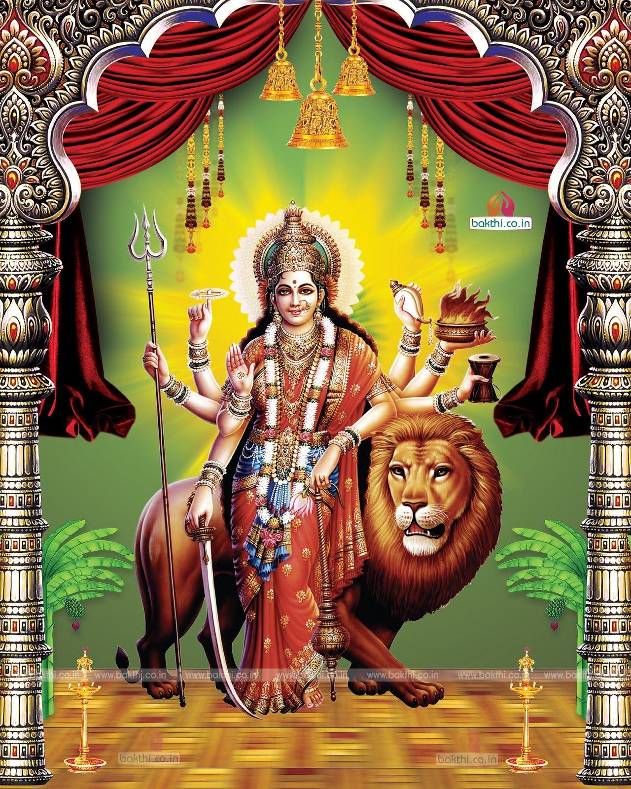 Gods Wallpaper: Hindu Famous God Durga Matha Hi Resolution Wallpapers