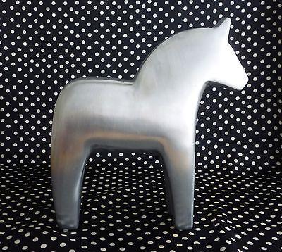 Details zu IKEA Schwedenpferd Deko Pferd Design Aluminium Holz