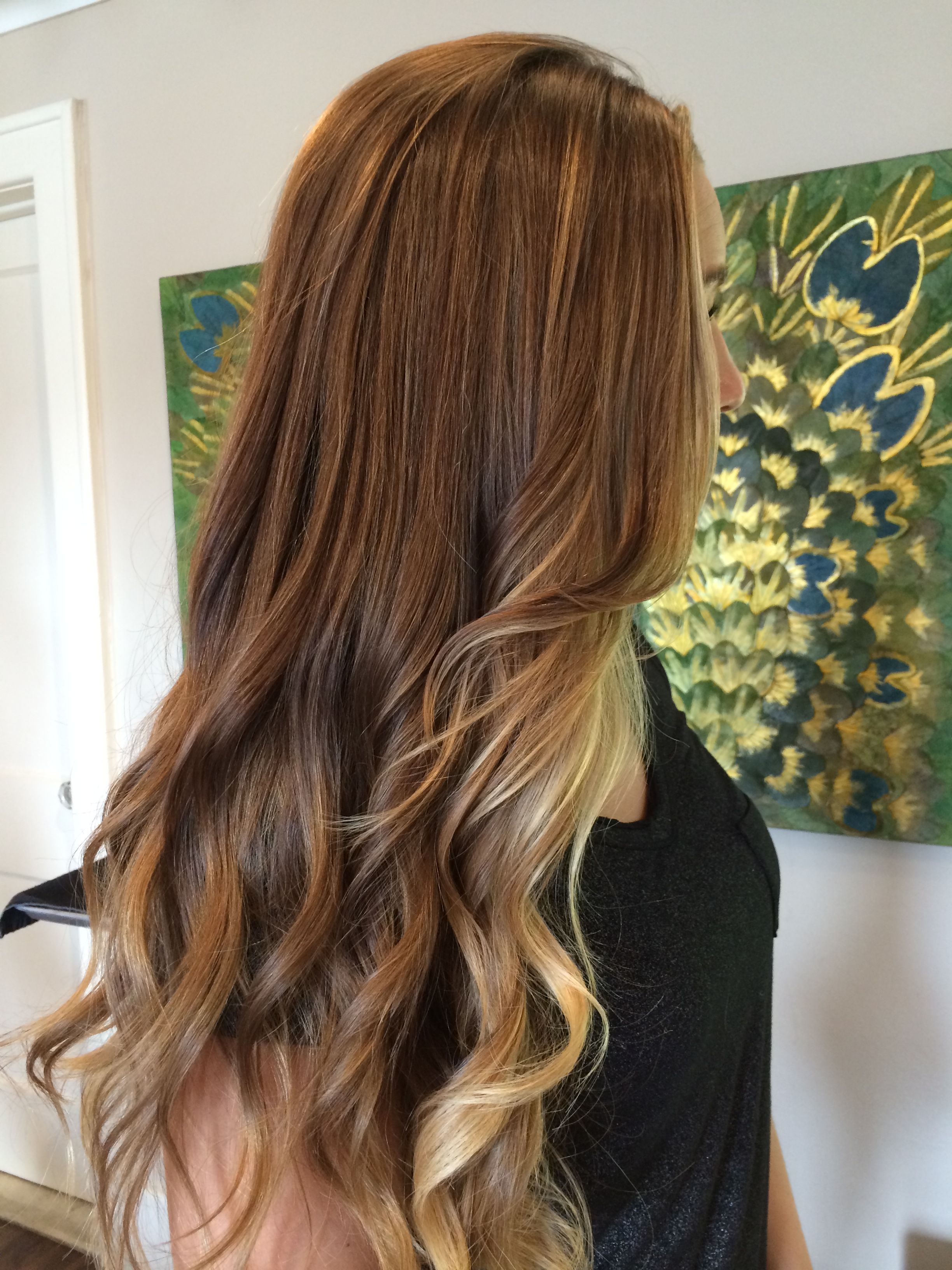 Balayage Ombre Using Her Natural Dark Blonde Light Brown