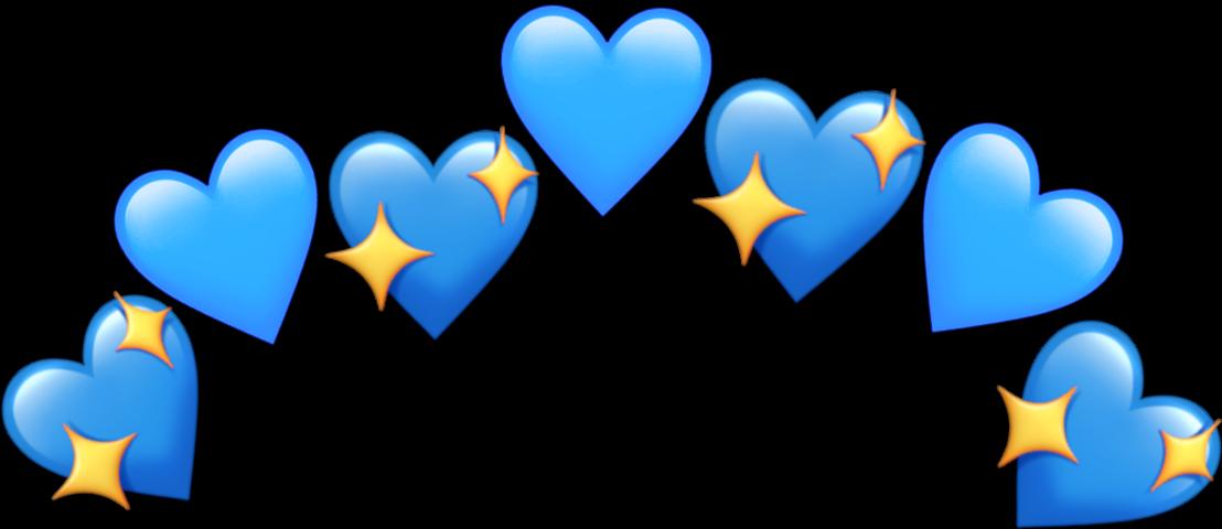 Discover Trending Freetoedit Stickers Sticker Art Blue Heart Emoji Wallpaper Iphone Cute