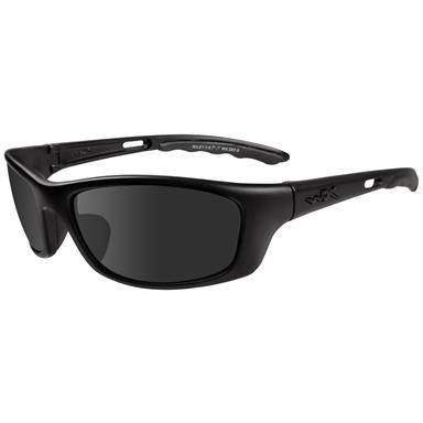 Gloss Black Frame Smoke Grey Lens Wiley X Slay Polarized Sunglasses