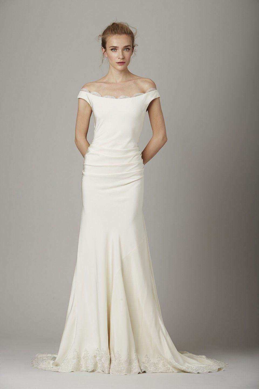 Silk sheath wedding dress  Lela Rose Fall  Bridal Collection