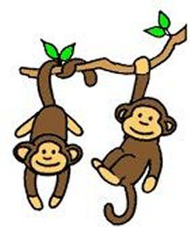 Easy cartoon. Swinging monkey clipart best