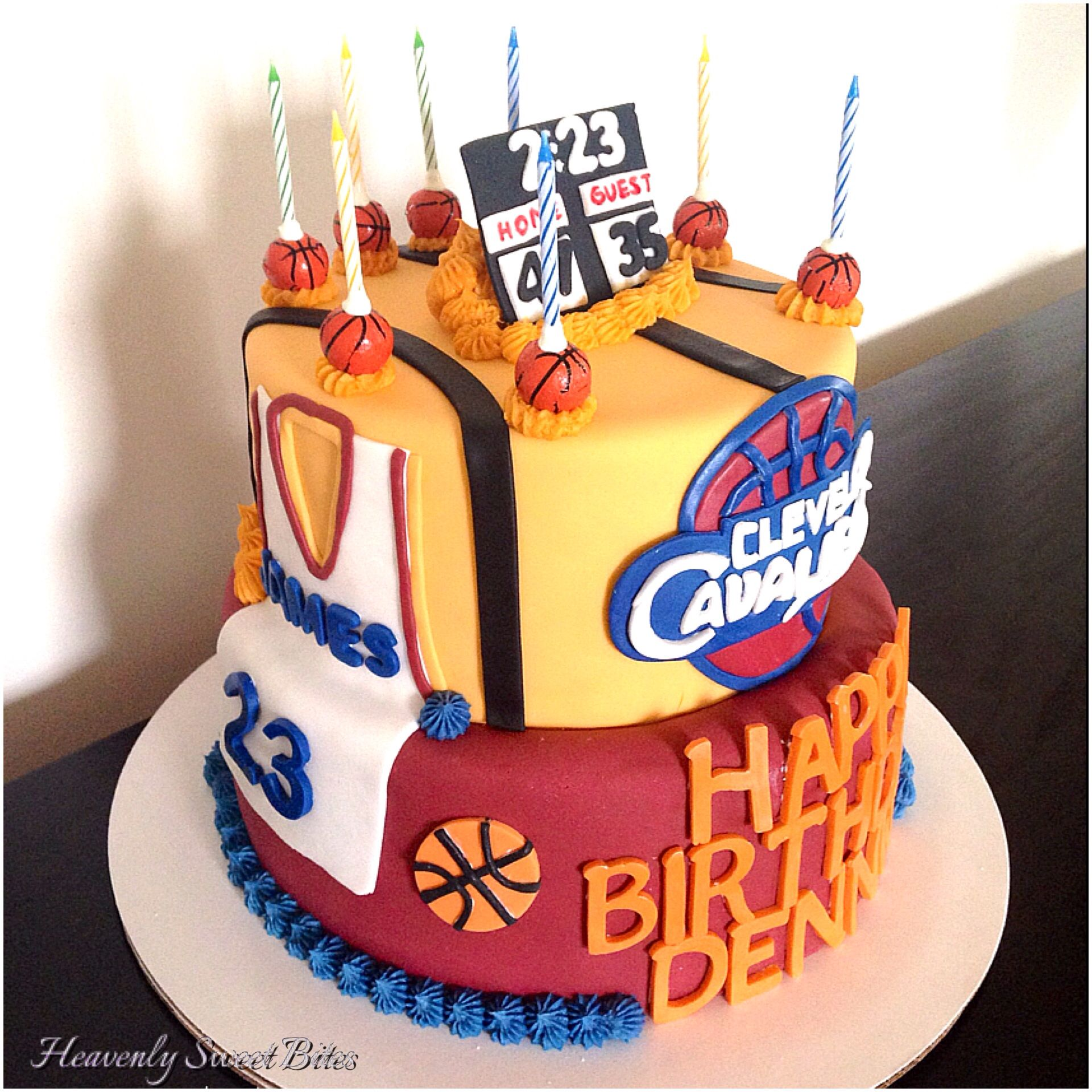 Cleveland Cavaliers Cake By Heavenly Sweet Bites In Mays Landing, NJ. Vanilla Cake With Fondant