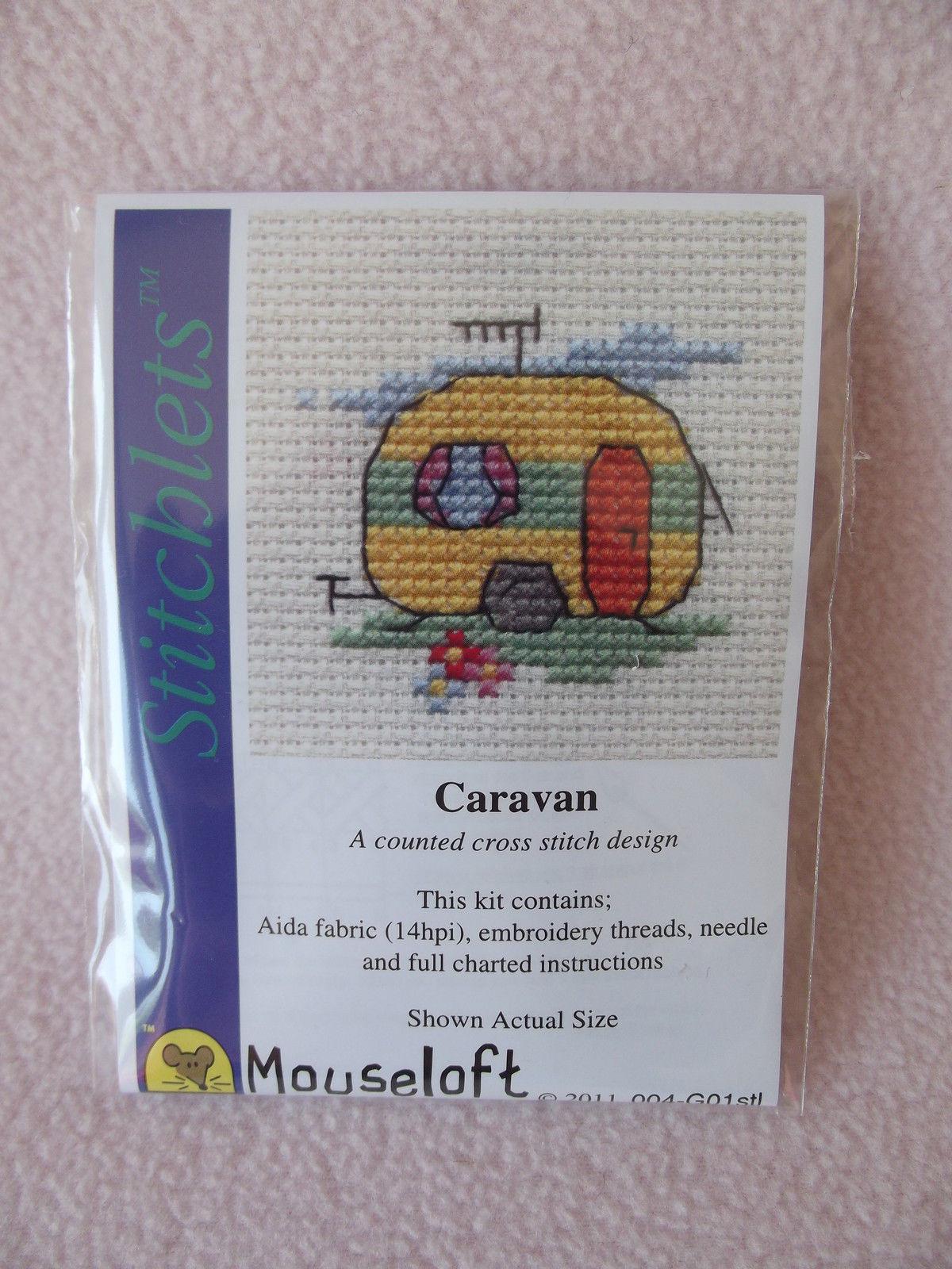 MOUSELOFT Paw Prints Cross Stitch Kit ~ teckel ~ NOUVEAU