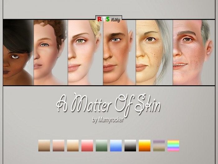 Rock The Sims Italy A MATTER OF SKIN no default by