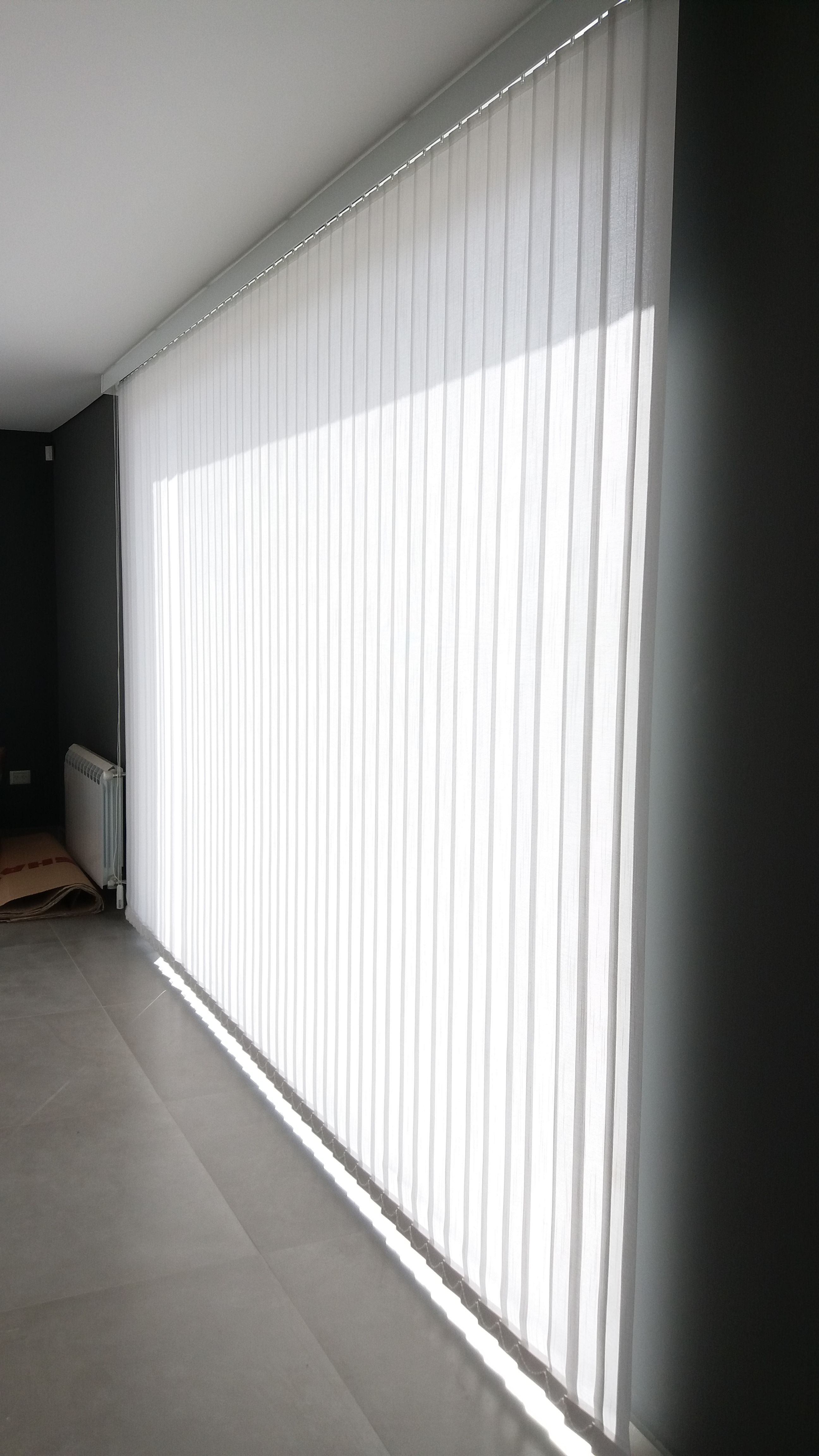Colocacion de persianas verticales