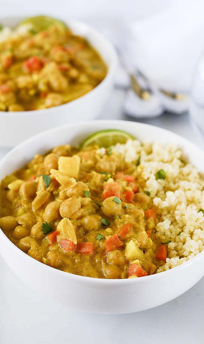 Jamaican Style Chickpea Curry