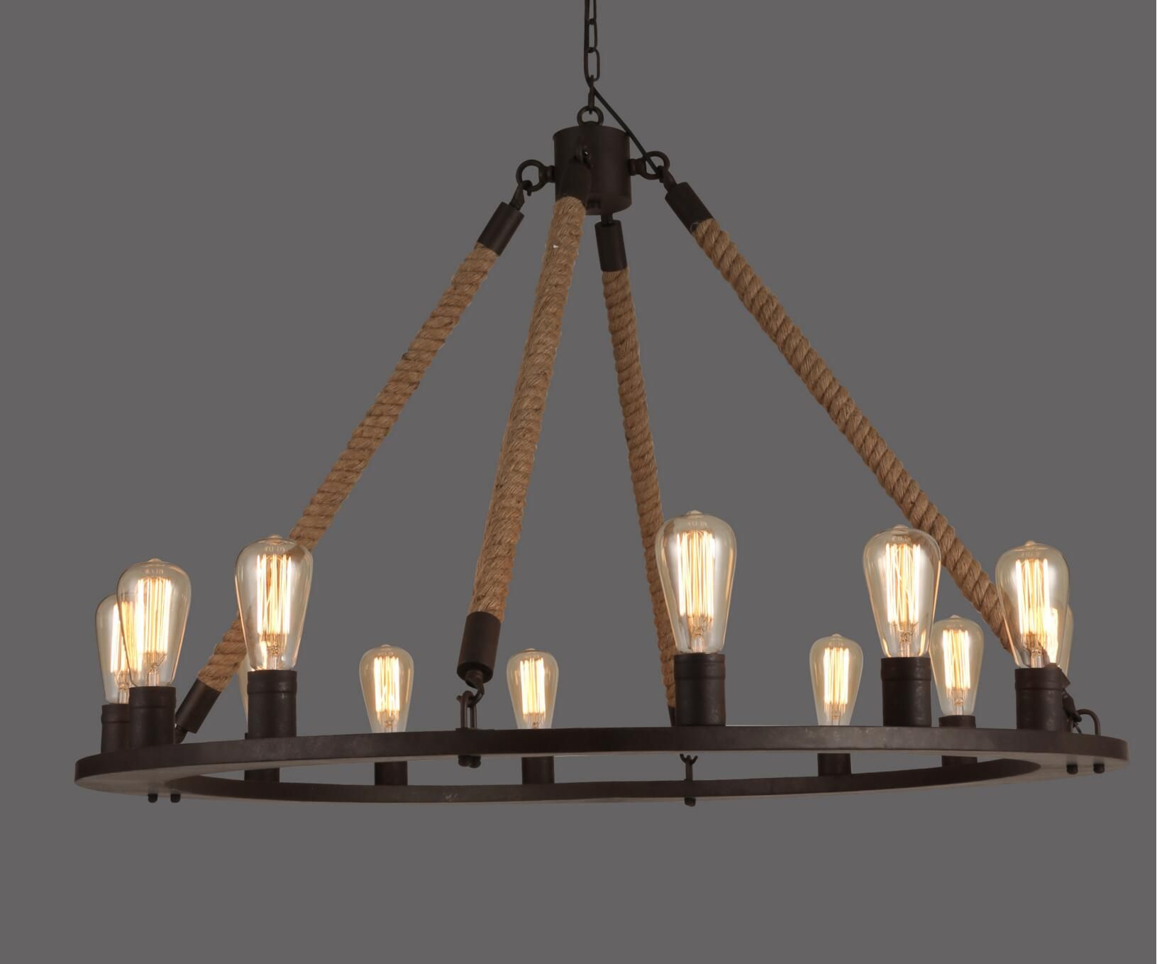 Rope filament round chandelier 42 rope filament chandelier rope filament round chandelier 42 aloadofball Gallery