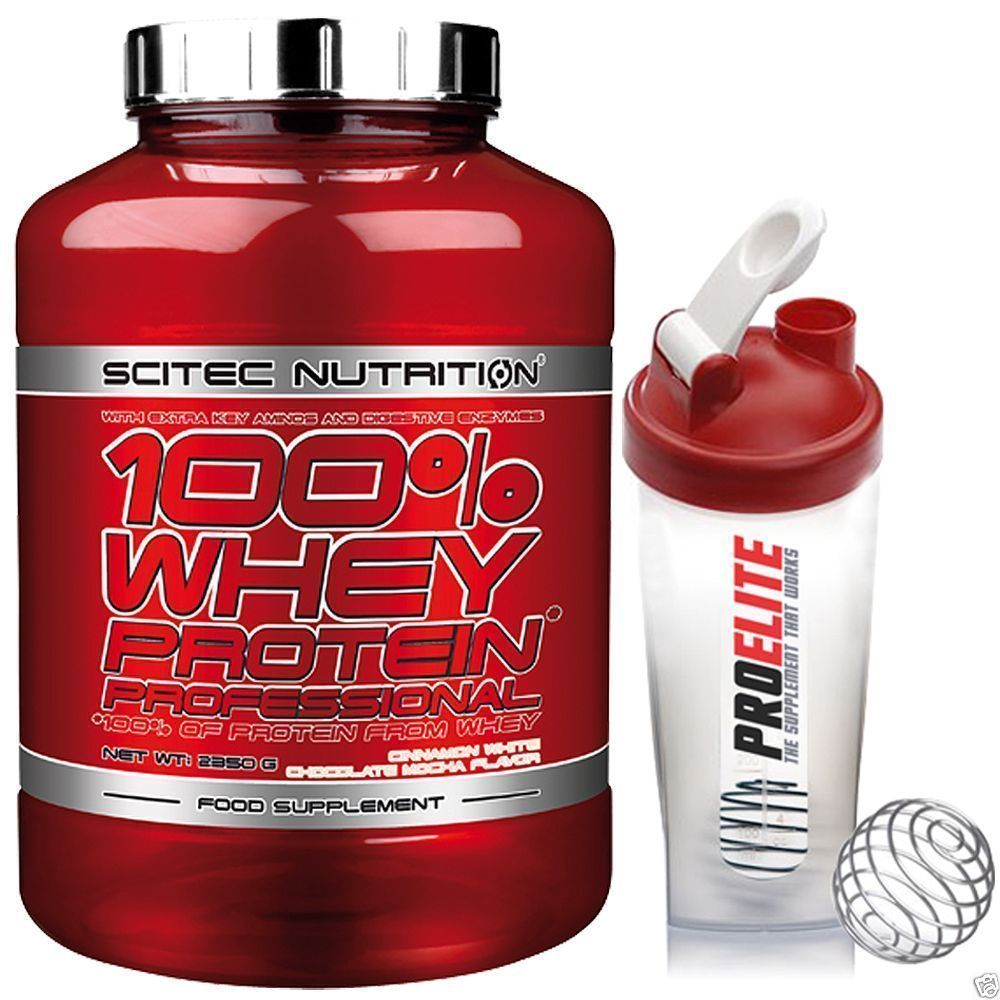 5ad9fed69 Scitec Nutrition 100% Whey Protein Professional 2350G Sci Tec + Free Shaker