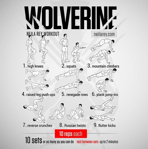 X Men Wolverine Movie Inspired Workout