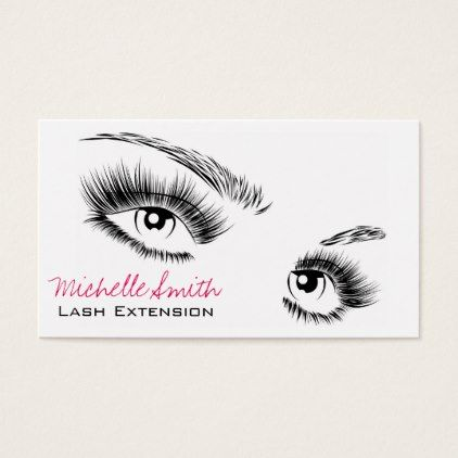 makeupartist businesscards face long lashes lash extension business card - Eyelash Extension Business Cards