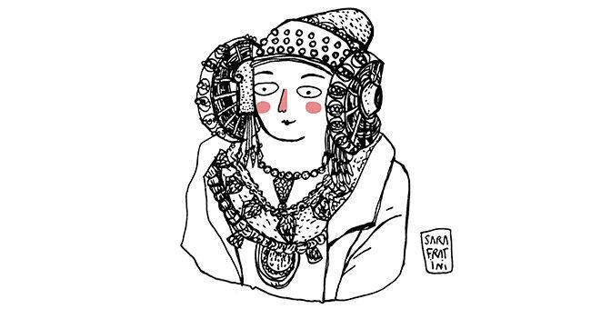 La Dama de Elche (en el Museo Arqueológico de Madrid)
