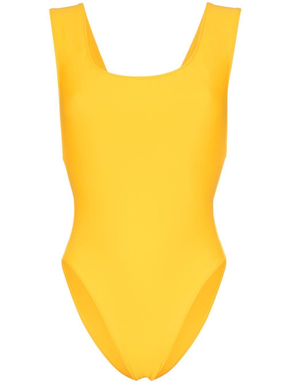 b1bb522280995b Araks Jireh scoop neck cutout swimsuit - Yellow, 2019 | Products ...