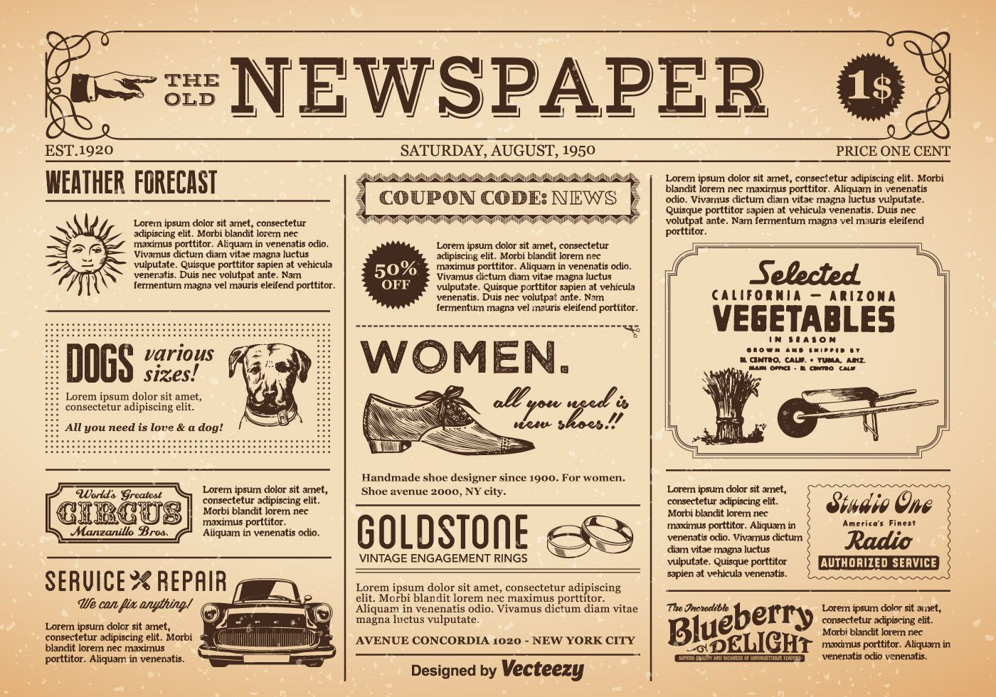 Old Newspaper Vector Free Download Old Newspaper Vintage Newspaper Vector Free