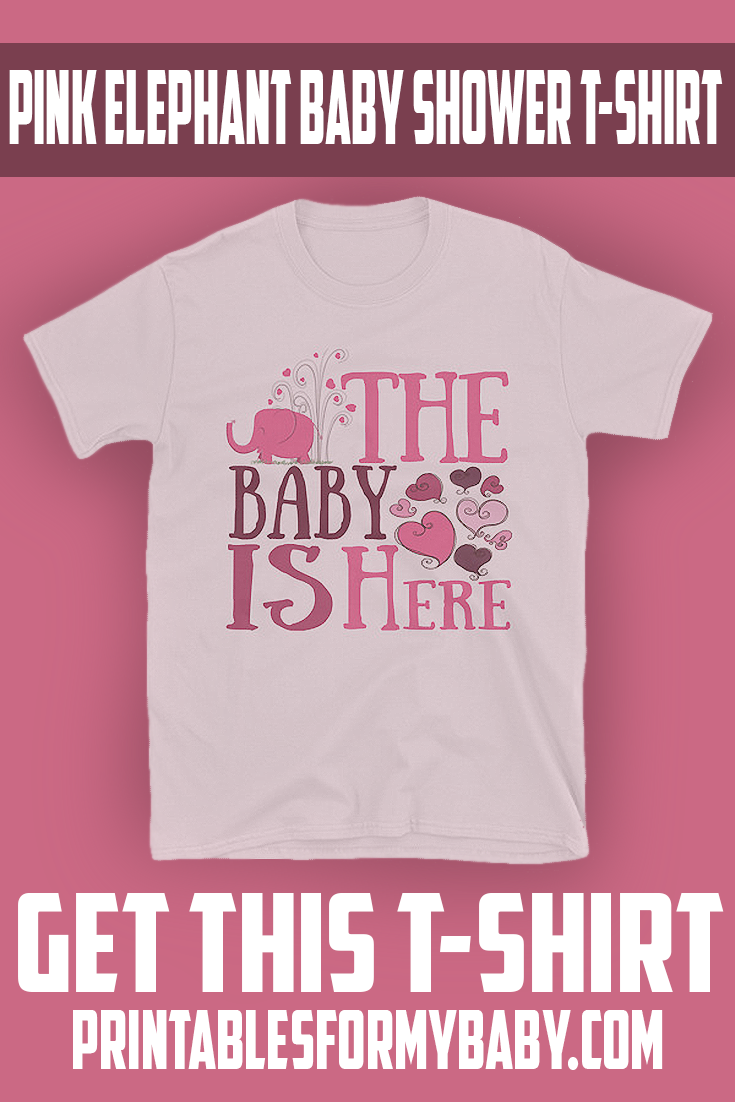 916ab48a3 Pink Elephant Baby Shower T-Shirt for you and your guests to wear during  the Baby Shower Party!