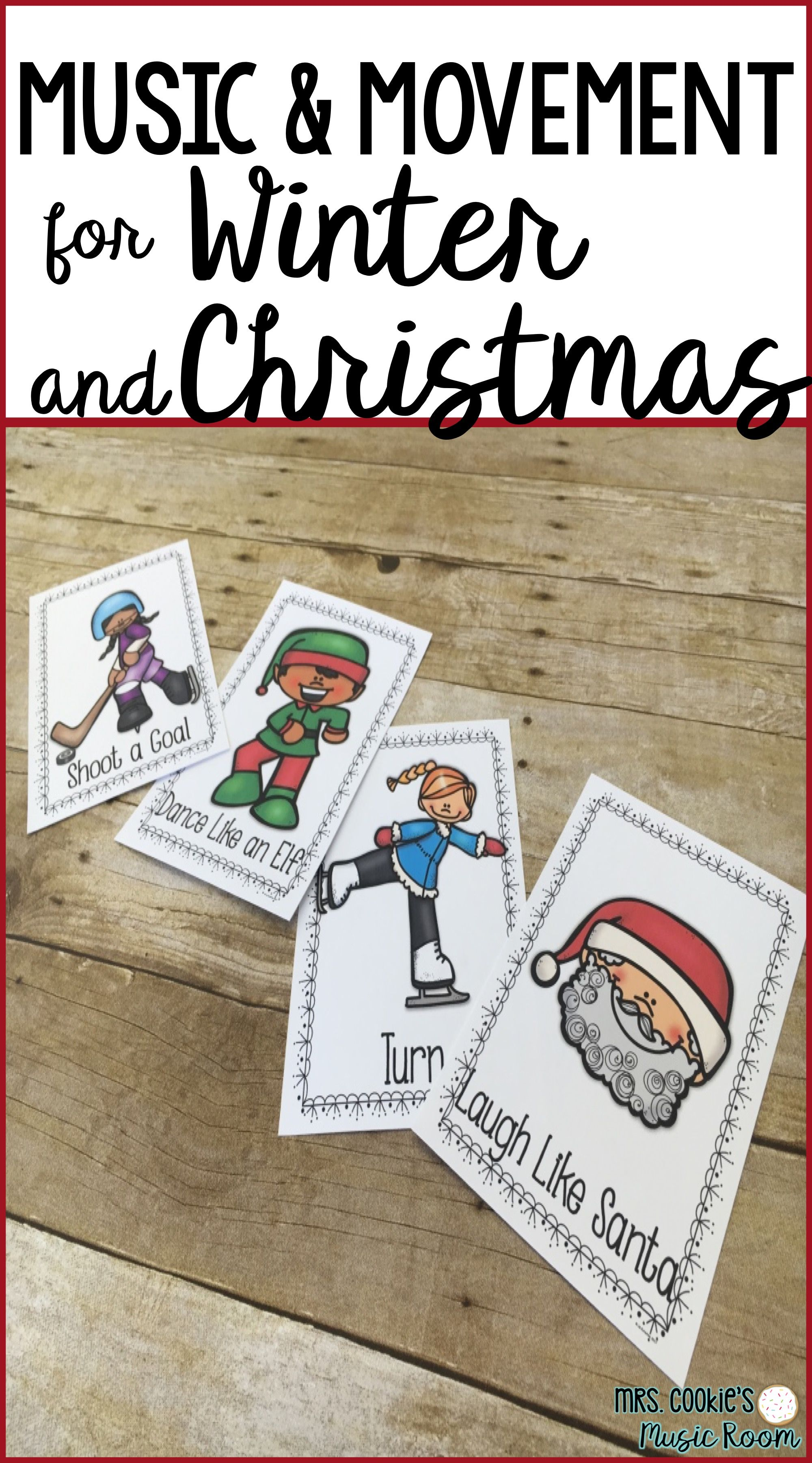 Music And Movement Cards For Winter And Christmas
