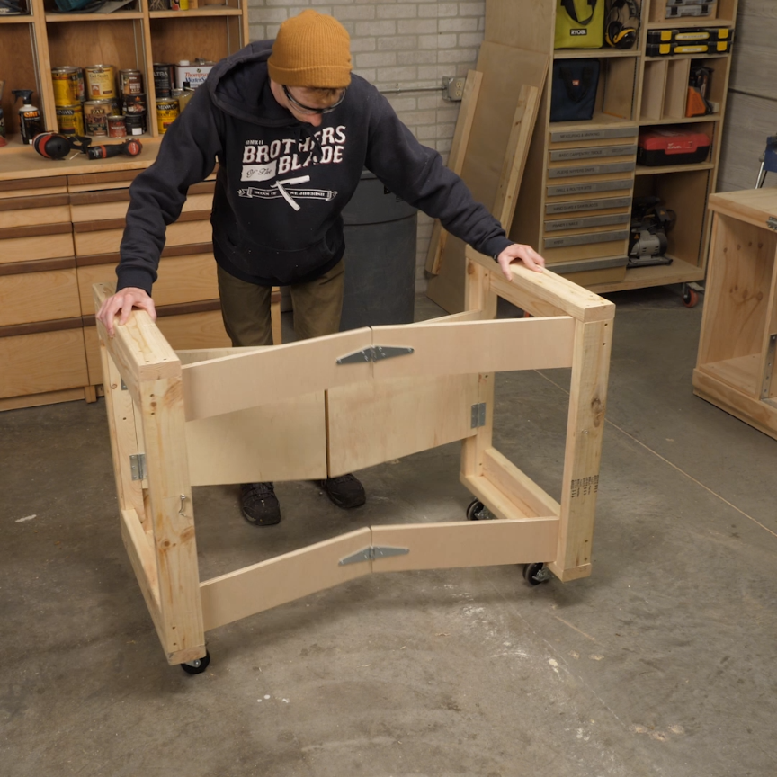 Saturday Morning Workshop Folding Mobile Workbench Crafts