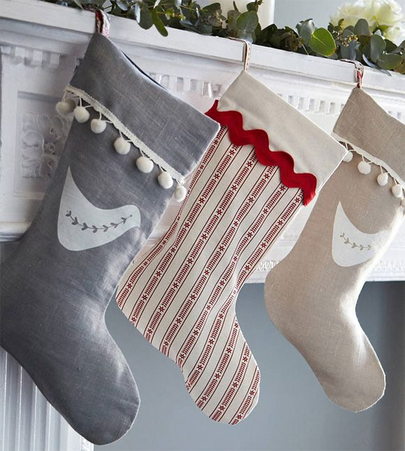 put a bird on it scandi stripe stocking i could screen print that i have to try this. Black Bedroom Furniture Sets. Home Design Ideas