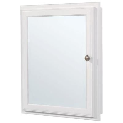 Glacier Bay 21 In X 25 In Recessed Or Surface Mount Medicine Cabinet In White S2126 Surface Mount Medicine Cabinet Cheap Bathrooms Bathroom Medicine Cabinet