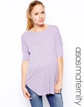 ASOS Maternity Top In Rib With Short Sleeve