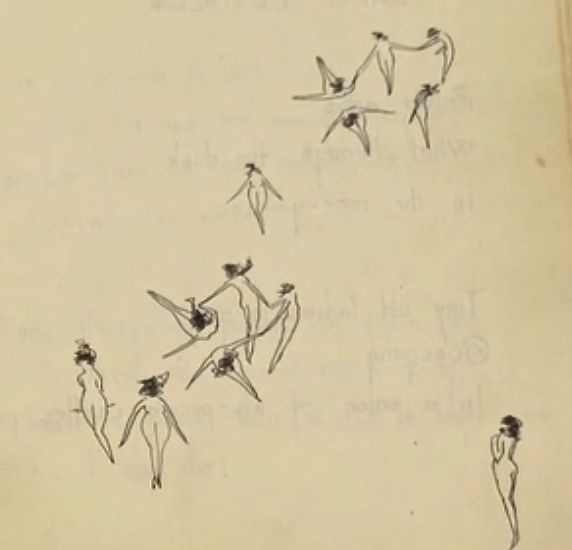 William Faulkner's illustrations in one of his poetry books, 1919