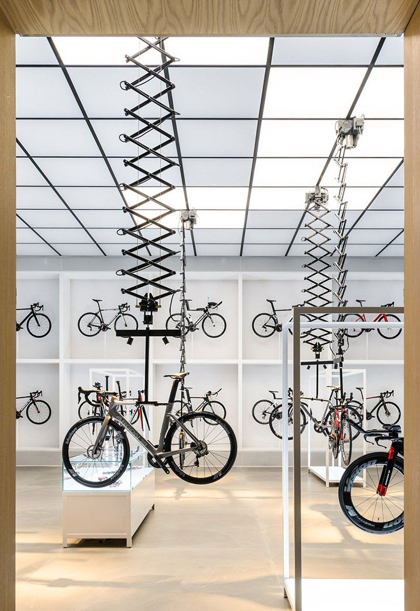 ebdca2ad1af this showroom in lynge by johannes torpe is an airy and transparent chapel  for bikes