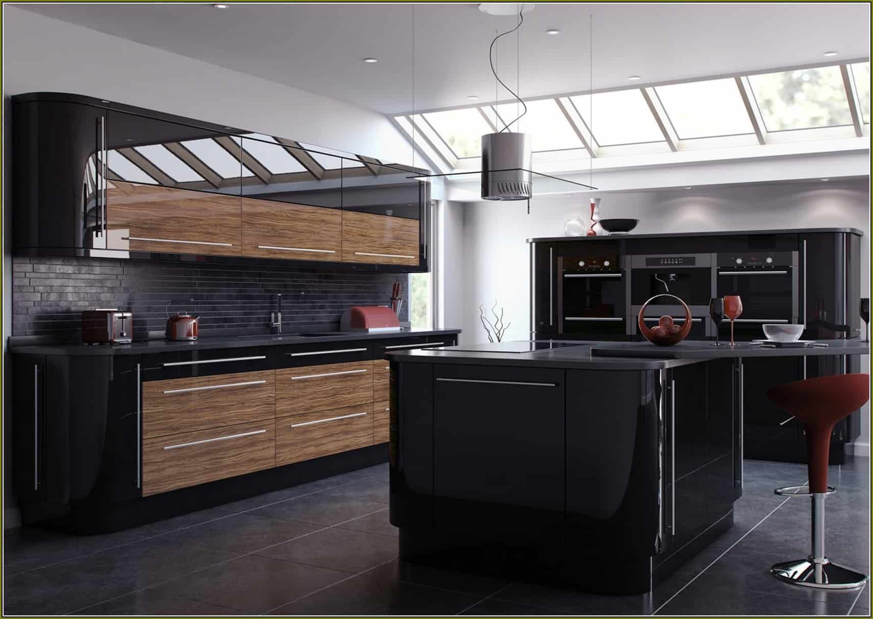Outstanding Black And Wood Kitchens That Will Add Style To Your Home Homesthetics Inspiring Ideas For Your Home In 2020 High Gloss Kitchen Cabinets Modern Kitchen Design High Gloss Kitchen Doors