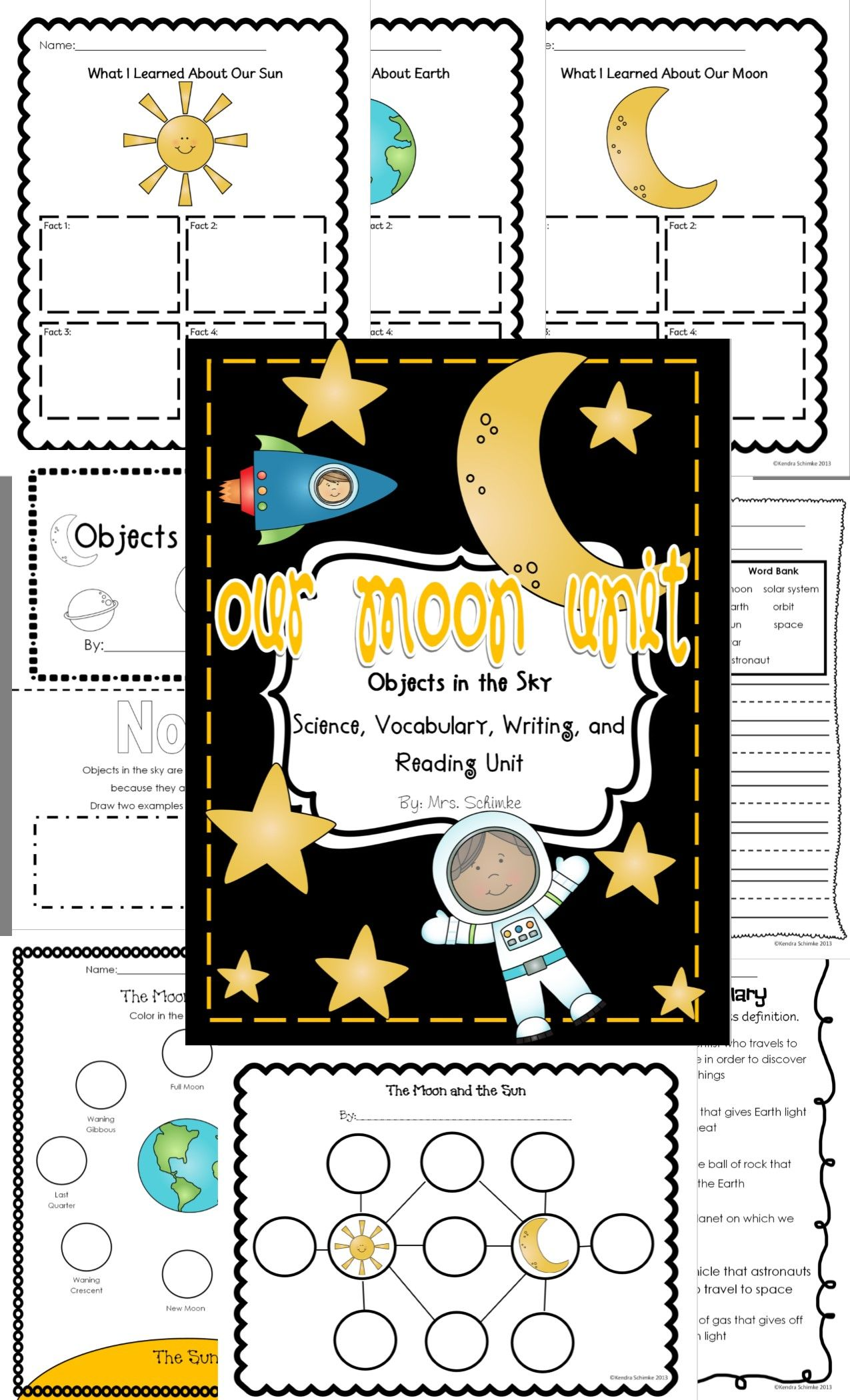 Moon And Space Informational Unit 30 Pages Ccss