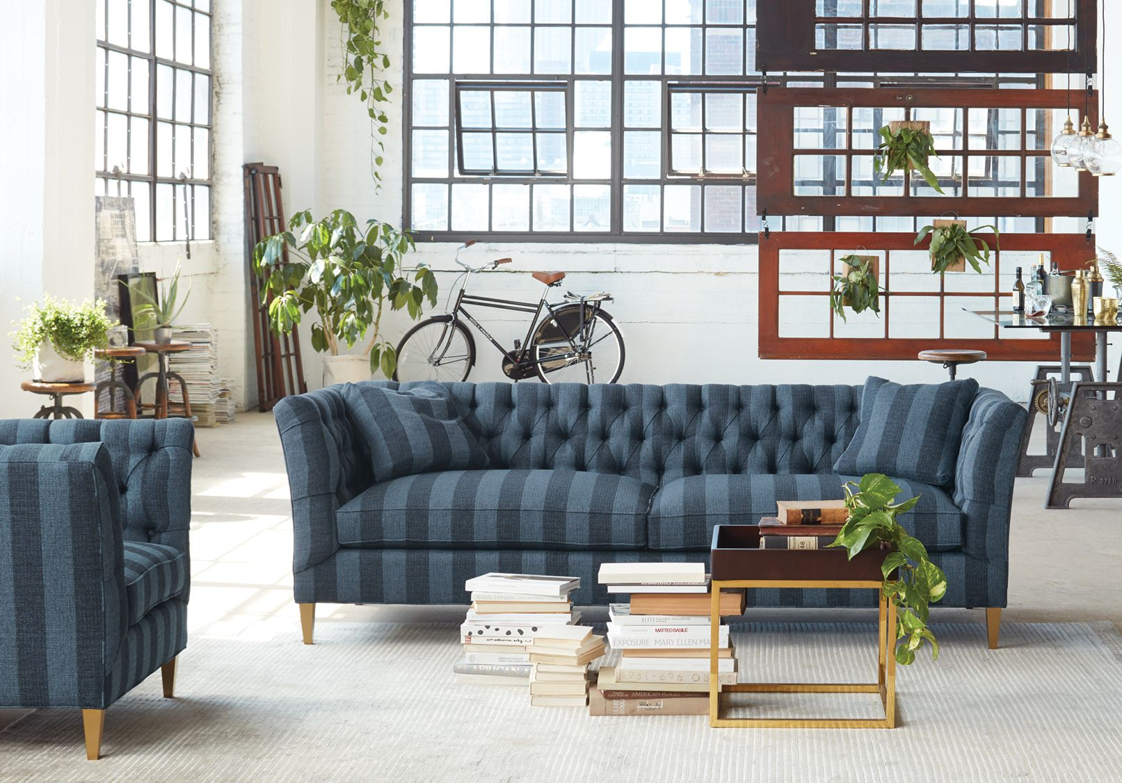 A coveted classic completely benchmade and handcrafted in the foothills of north carolina the chapman sofa receives a defining update with brass accents
