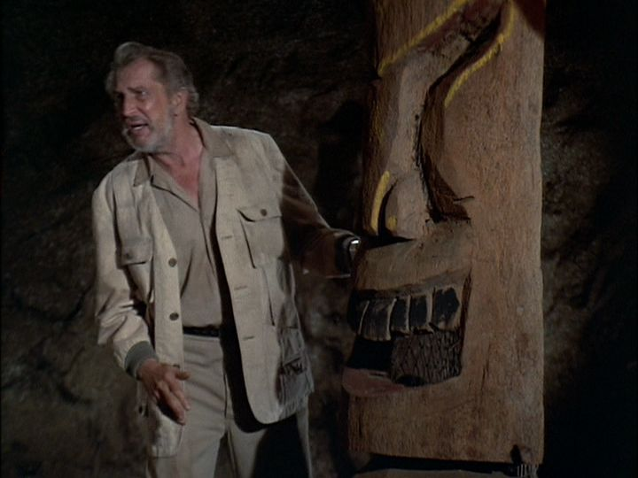 """Vincent Price as Professor Hubert Whitehead in """"The Tiki Caves"""" episode.  The Brady Bunch: Season 4, Episode 3 (Oct 6, 197… 