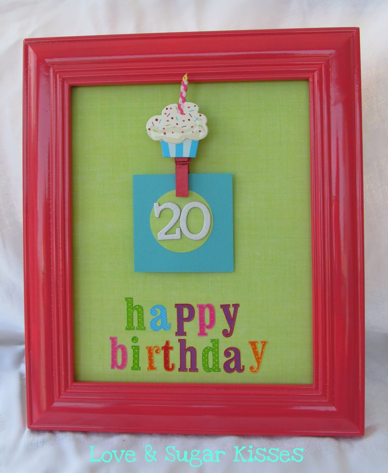 Love & Sugar Kisses: {DIY} Birthday Countdown Frame