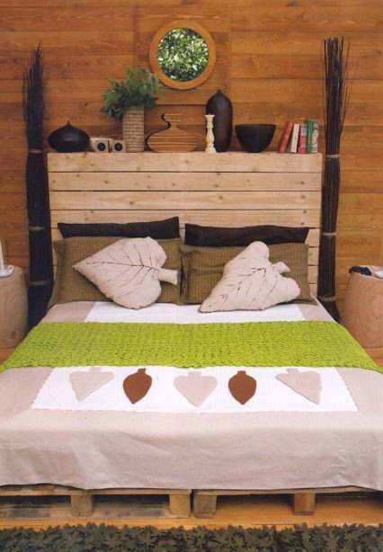 Environmentally Friendly Wooden Pallet Furniture Ideas Bed And Bed Headboard