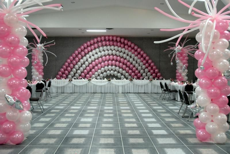 I See This As A Sweet 16 Idea Balloon Decorations Without Helium Columns