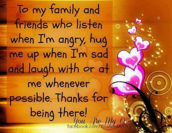Thank you to those who have been there <3
