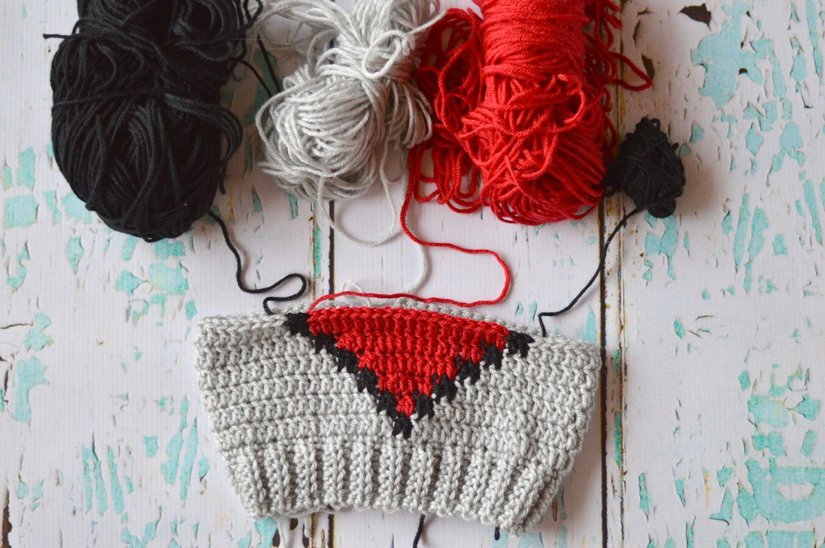 Crochet 8-Bit Heart Slouchy | Pinterest | Gorros, Molde y Patrones
