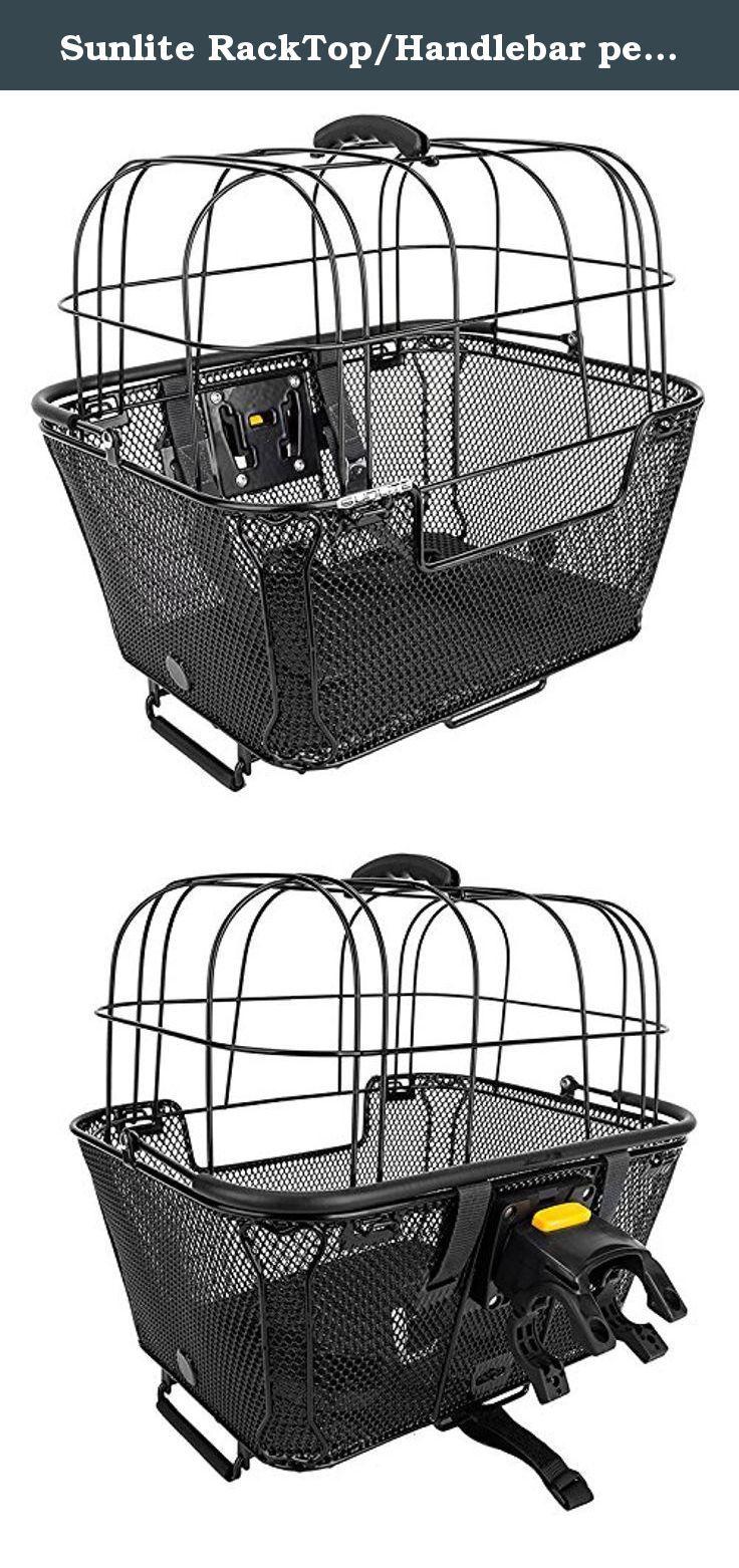 Sunlite RackTop/Handlebar pet Friendly QR Basket, 15.7 x 16.9 x 12 ...