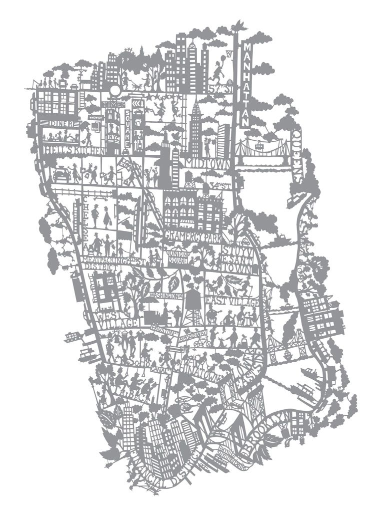 Newyork Map Illustration With Images Map Wall Art Nyc Map