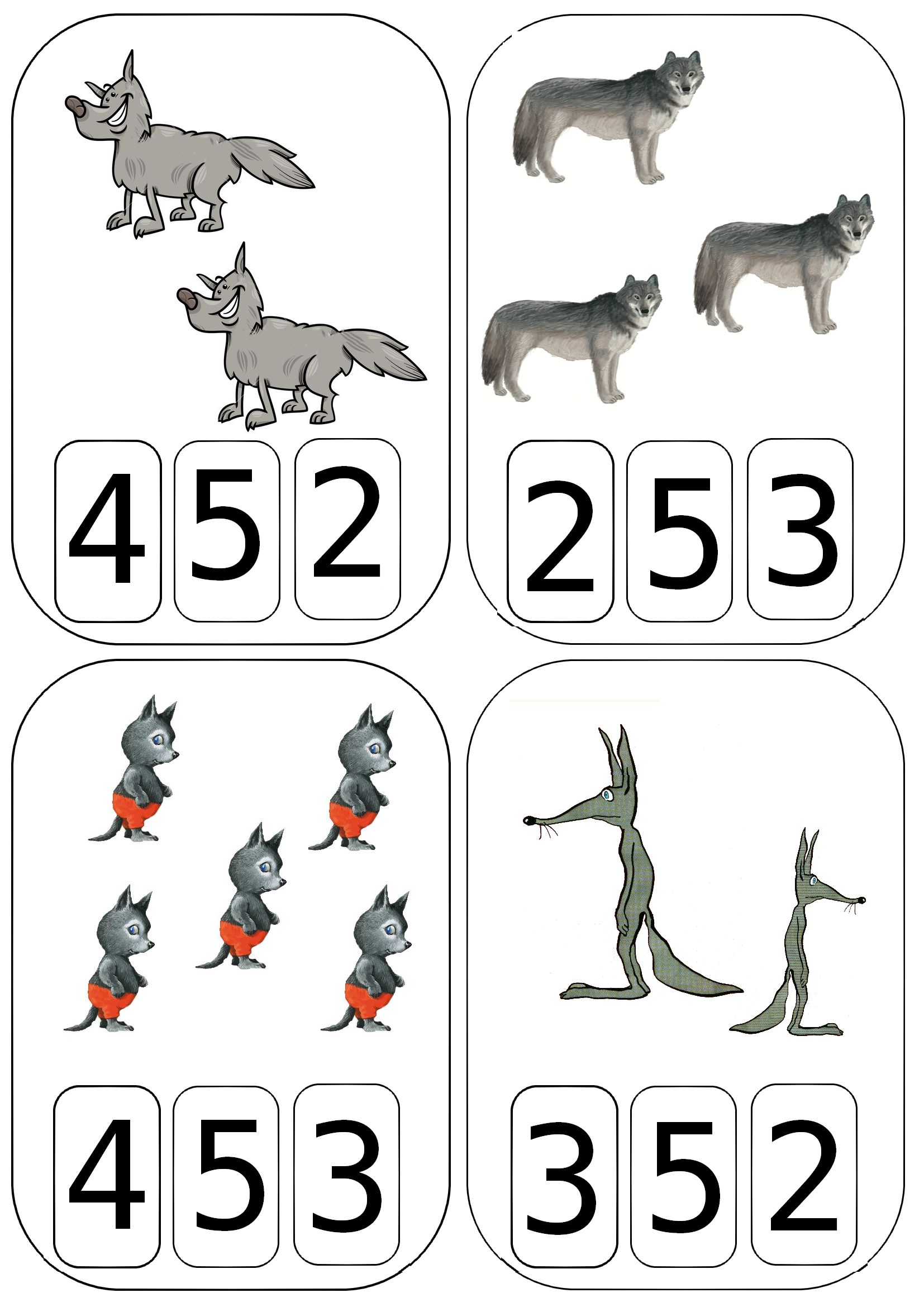Cartes A Compter Loups