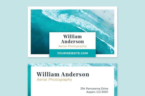 Business card template ocean card templates business cards and business card template ocean by photomarket on creativemarket flashek Choice Image