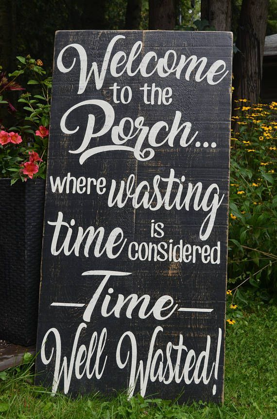 Barn Board Porch Sign, Rustic Porch Sign, Farmhouse Decor, Country Chic Decor, Welcome to the Porch, Painted Wooden Sign #rusticporchideas