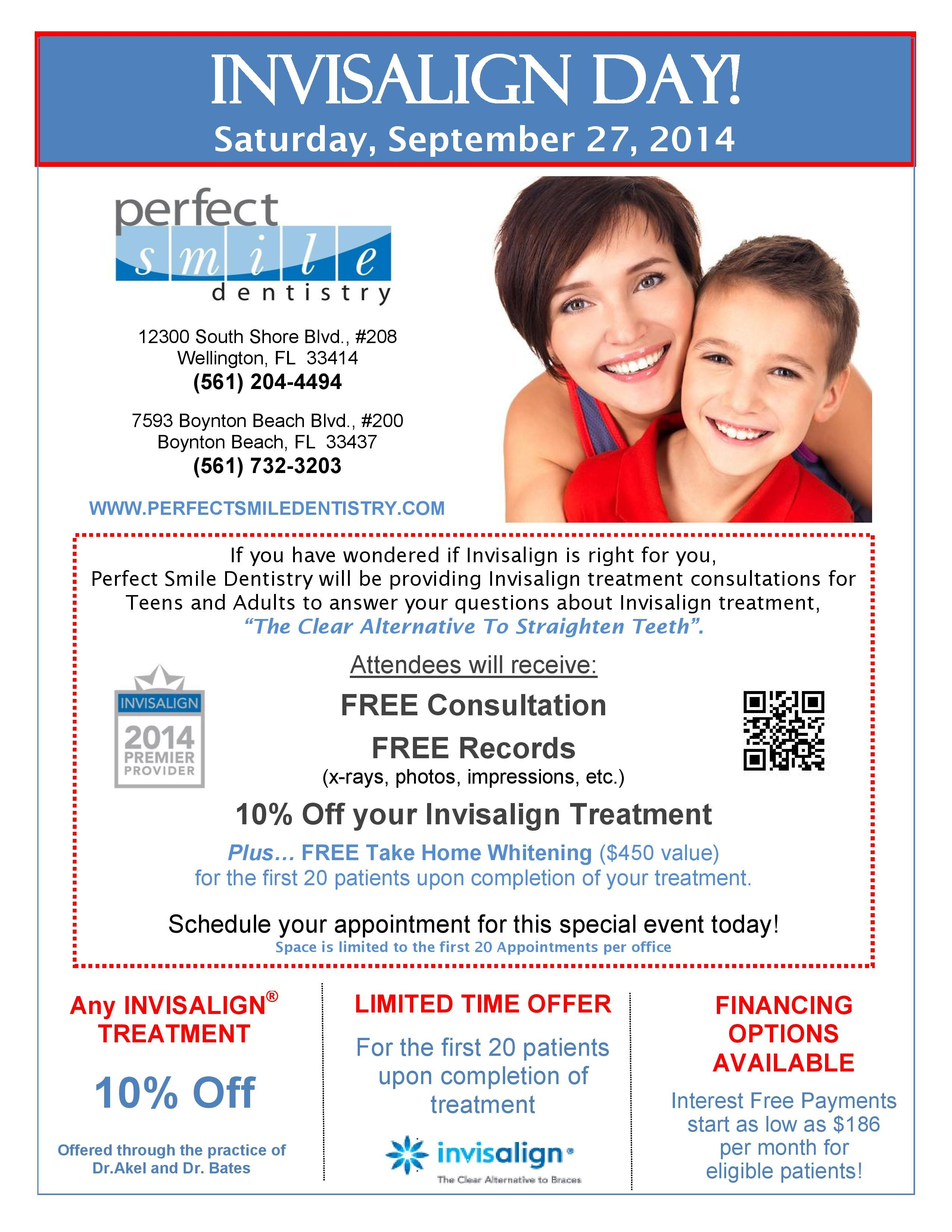 September 27 is Invisalign Day! Stop by Perfect Smile