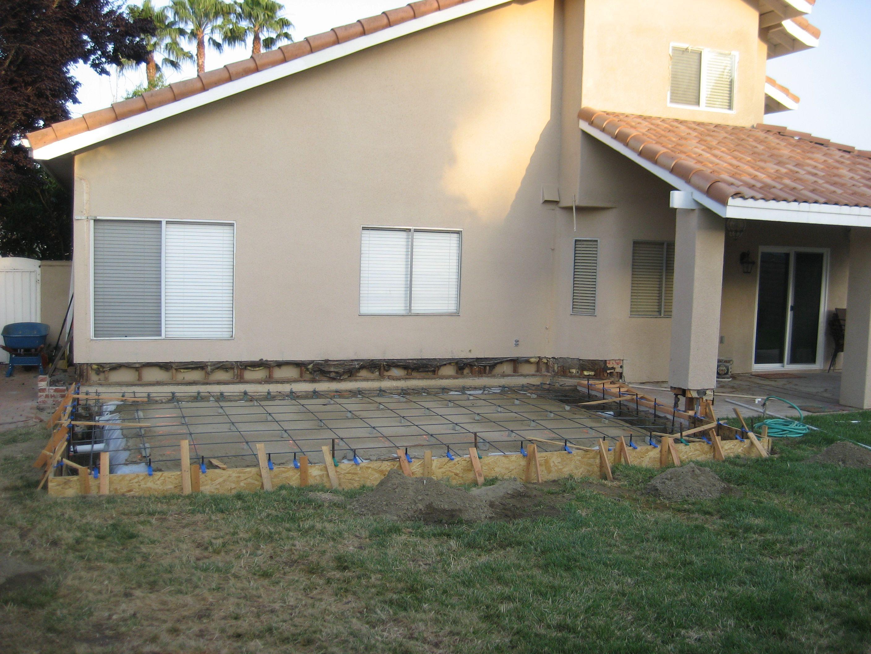 Before concrete.