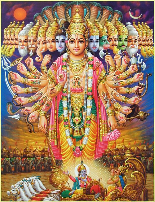 lord vishnu vishwaroopa